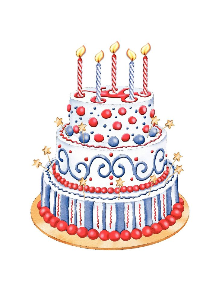 Biscuit clipart fancy Clipart on Cake images Patriotic+Cake+Clipart[1]