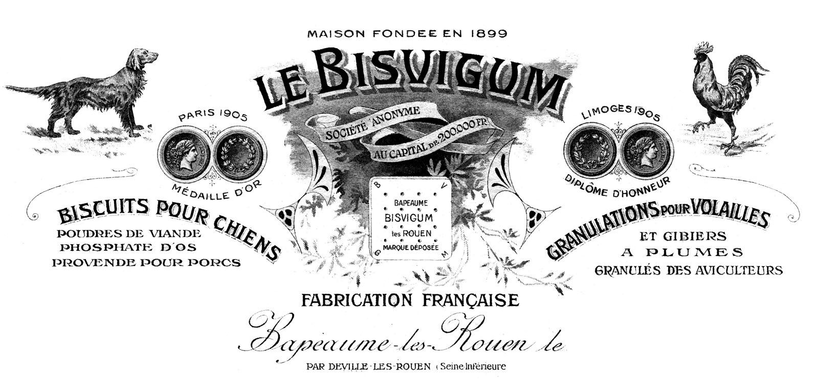 Biscuit clipart french Vintage Art Ephemera Dog The