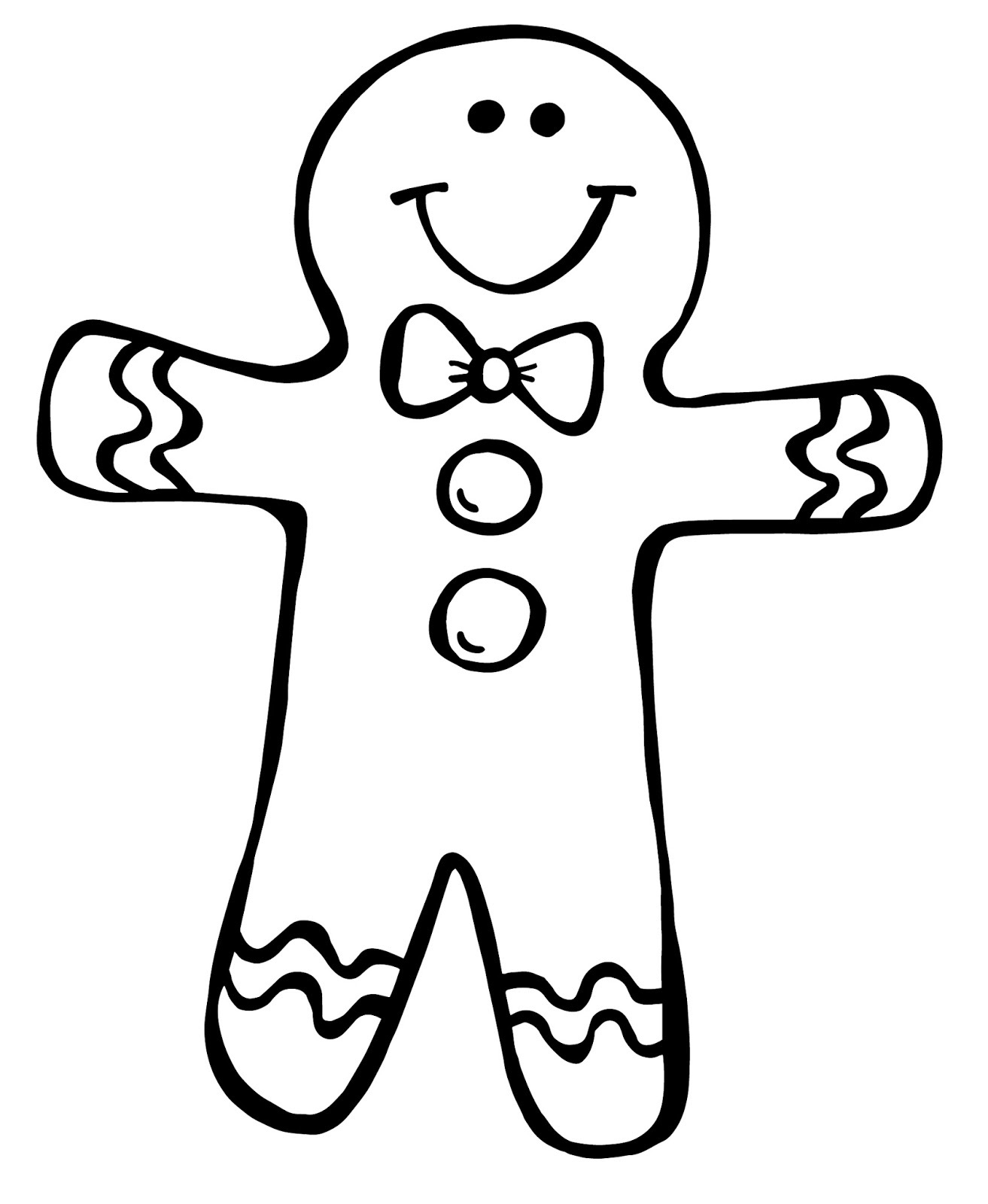 Black & White clipart gingerbread Men web com clipartix man