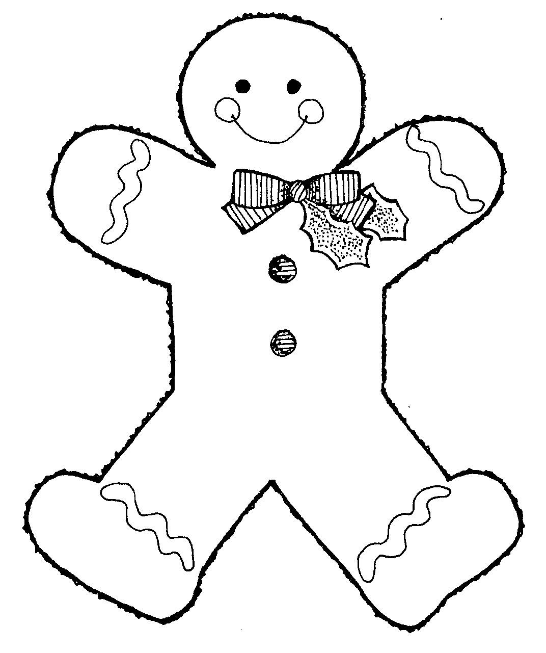 Ginger clipart sketch Collection of outline gingerbread of