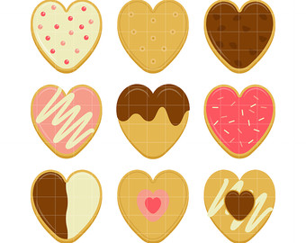 Hearts clipart stylised Etsy Crafts Art clipart Toppers