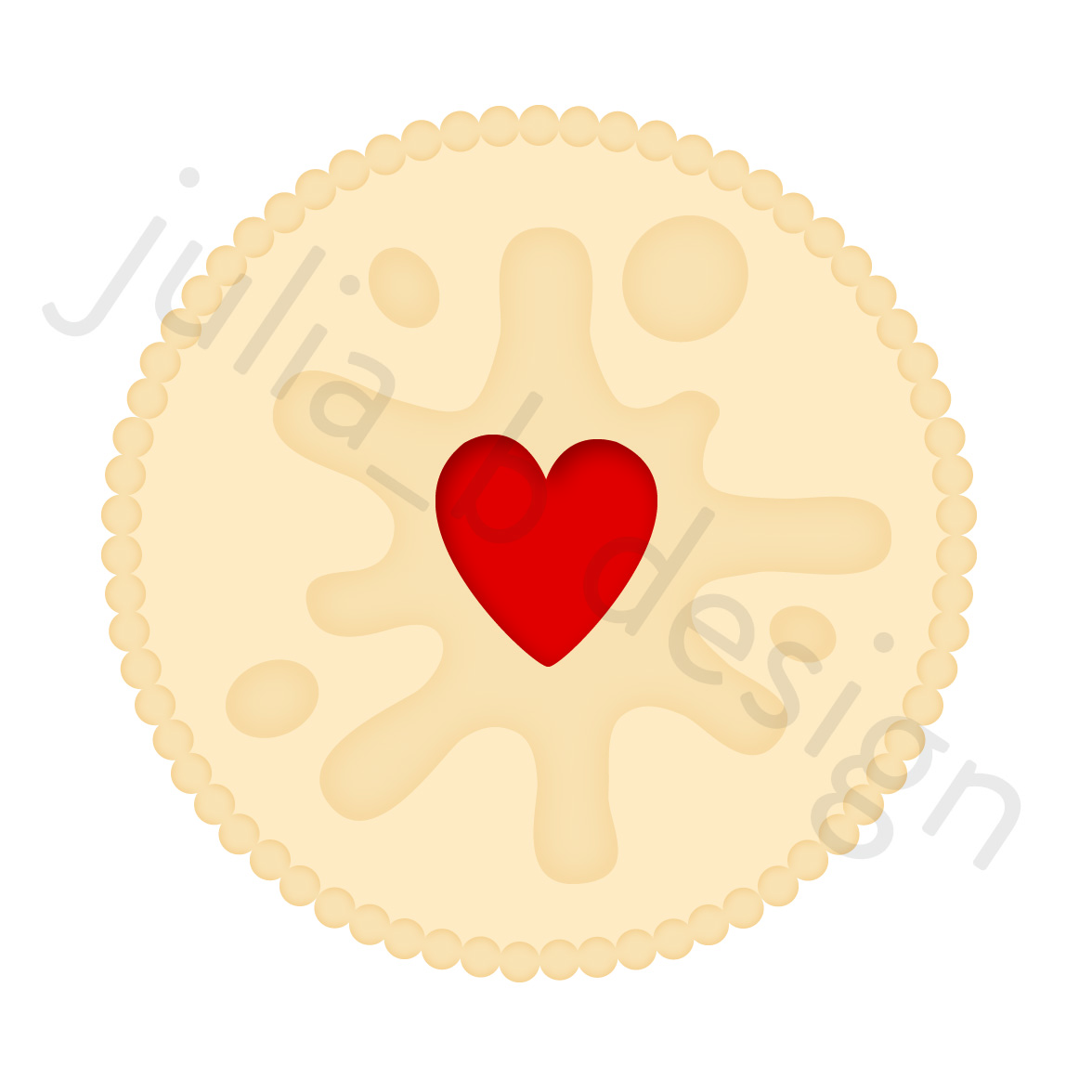 Biscuit clipart jammy Dodger There's by Julia jammy