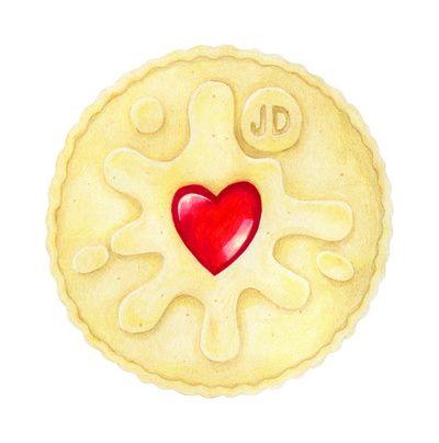 Biscuit clipart jammy Dodger  Art Print Jammie