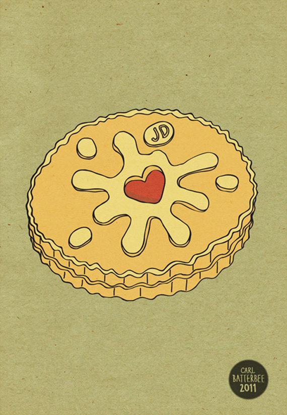 Biscuit clipart jammy Biscuit Jammie Biscuit Print Dodger