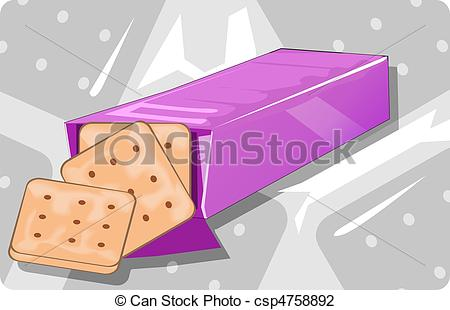 Biscuit clipart packet biscuit Art Illustration with of packet