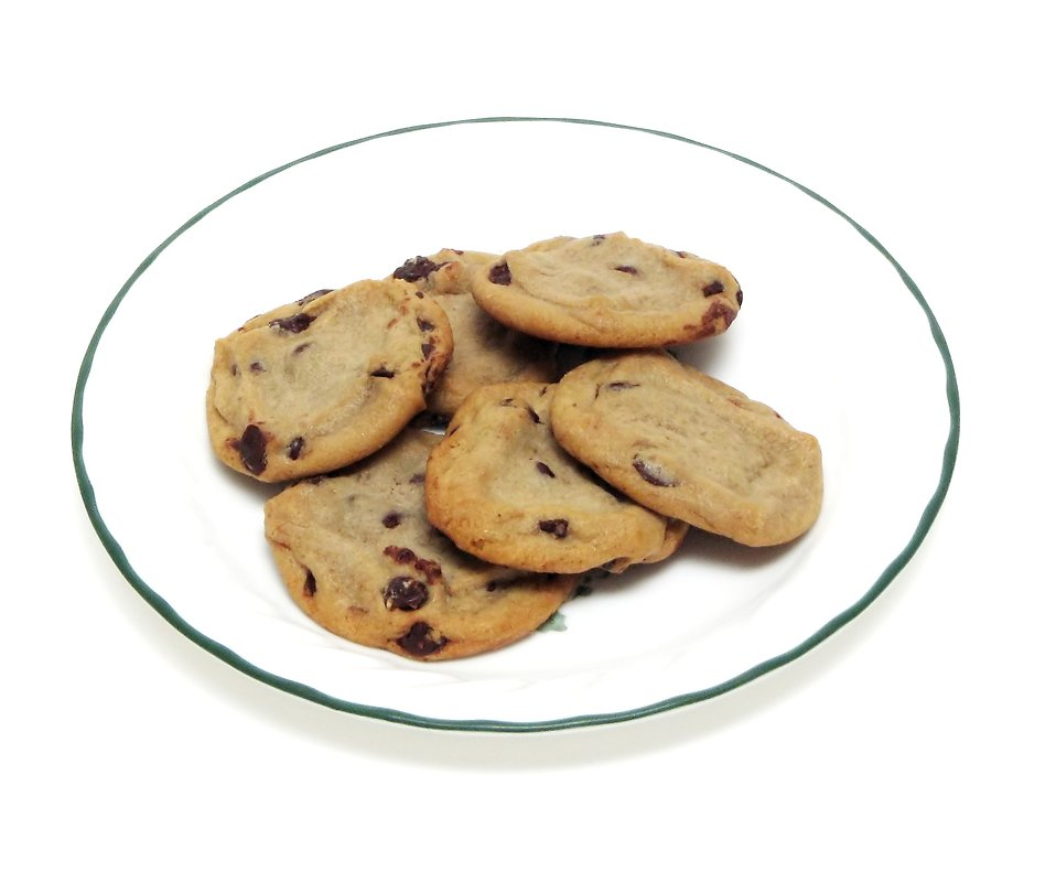Biscuit clipart plate cookie Free chip Free Photo on