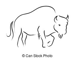 Bison clipart black and white  2 Bison royalty Bison