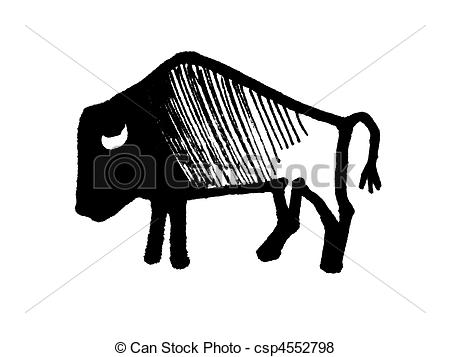 Bison clipart black and white 055 royalty free Illustrations bison