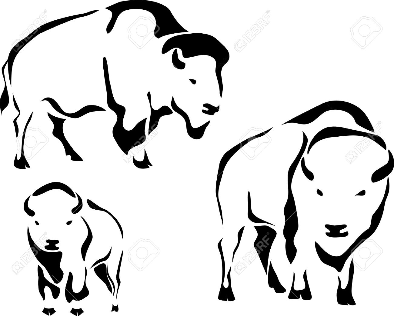 Bison clipart buffalo head Search images tribal Search bison