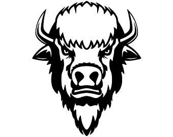 Bison clipart buffalo head Wild #2 Mascot Logo Buffalo