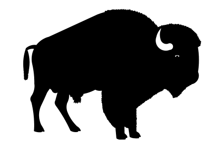 Bison clipart buffalo head Cliparts American Clip Black Native
