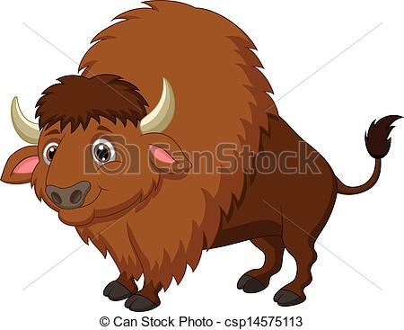 Yak clipart animated Cartoon of Bison csp14575113