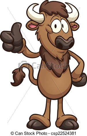 Bison clipart cartoon Free illustration clip Illustrations Bison