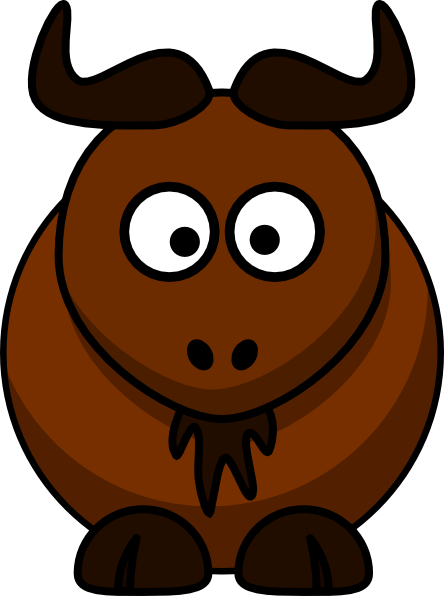 Bison clipart cartoon Art Bison vector free this