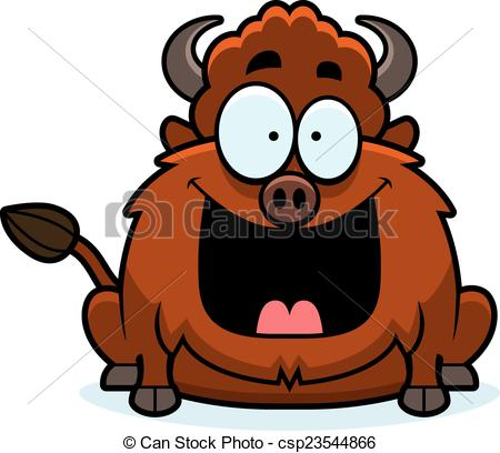 Bison clipart cartoon Vector Clip Bison  Cartoon