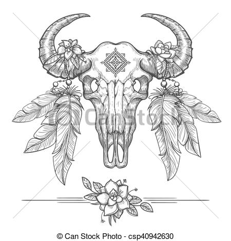 Bison clipart dead Csp40942630 american on tribal of