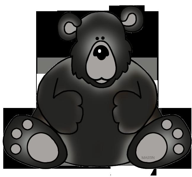 Animal clipart phillip martin Art Clipart Bear 79 Black