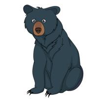 Black Bear clipart Free 76 Art sitting Bear