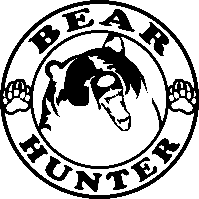 Black Bear clipart bear hunt 15004 Hunting Hunter Decals Bear