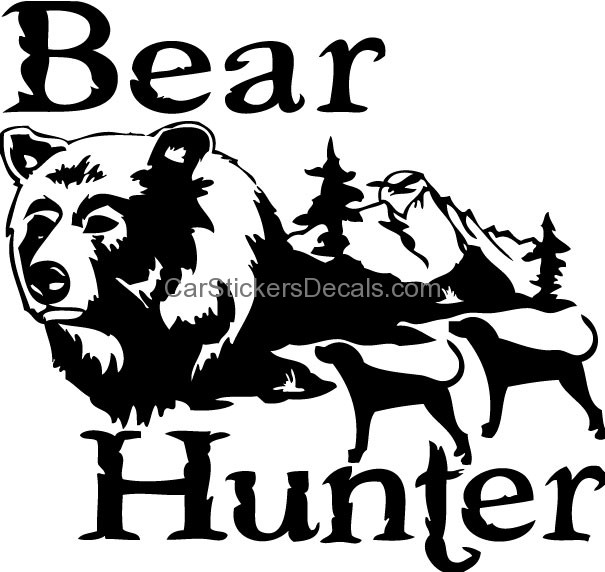 Black Bear clipart bear hunt Bear Decals & with Dogs