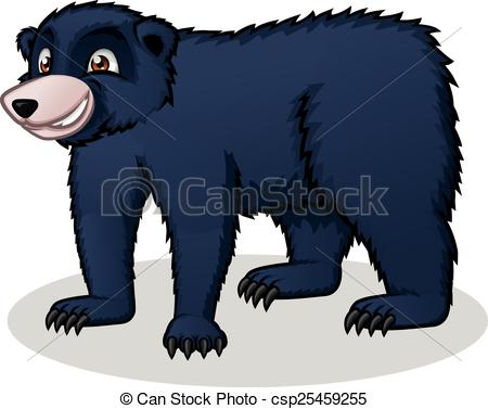Black Bear clipart cartoon  black a Vector Black