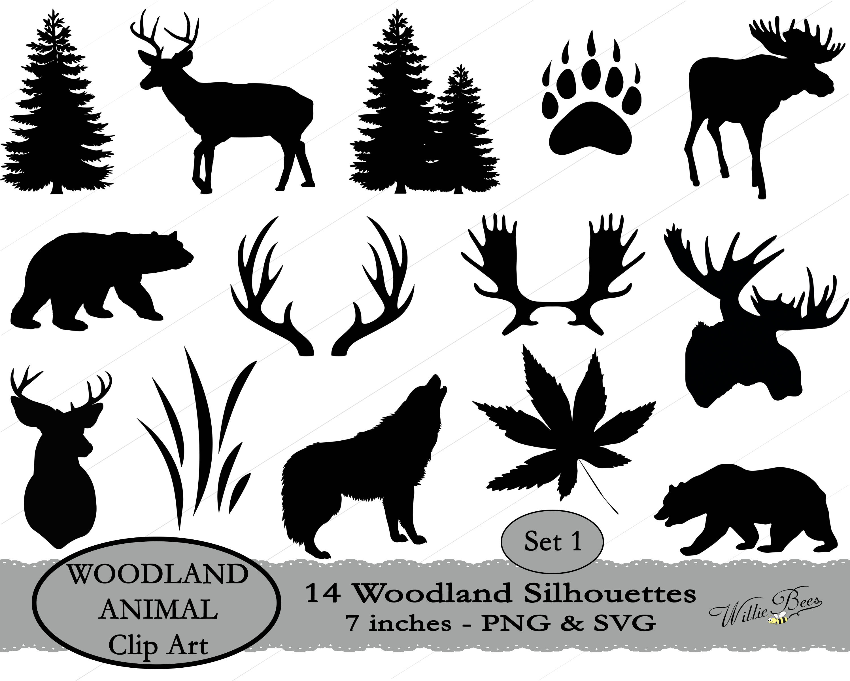 Black Bear clipart woodland Clip 7 Animal files SVG