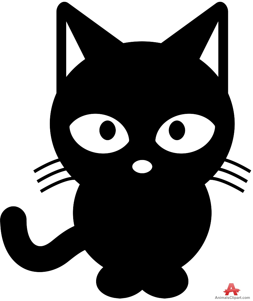 Black Cat clipart cat sitting Clipart — Black Black #6635