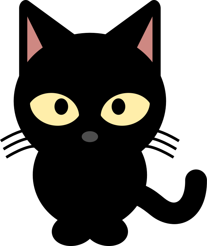 Black Cat clipart tuxedo cat Black IMAGE Clipart (PNG) MEDIUM