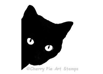 Black Cat clipart black kitten Silhouette Pie STAMP by Black