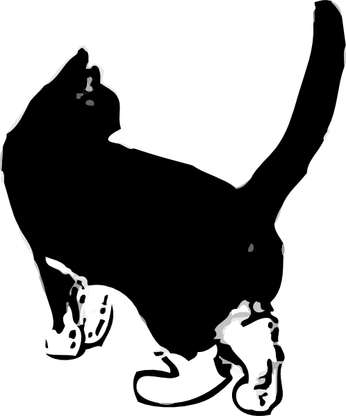 Black Cat clipart black and white Free Clipart Cat White And