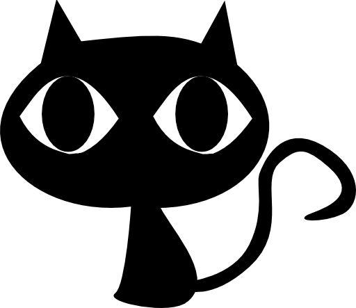Black Cat clipart black and white Silhouette Best Black Clipart Pinterest