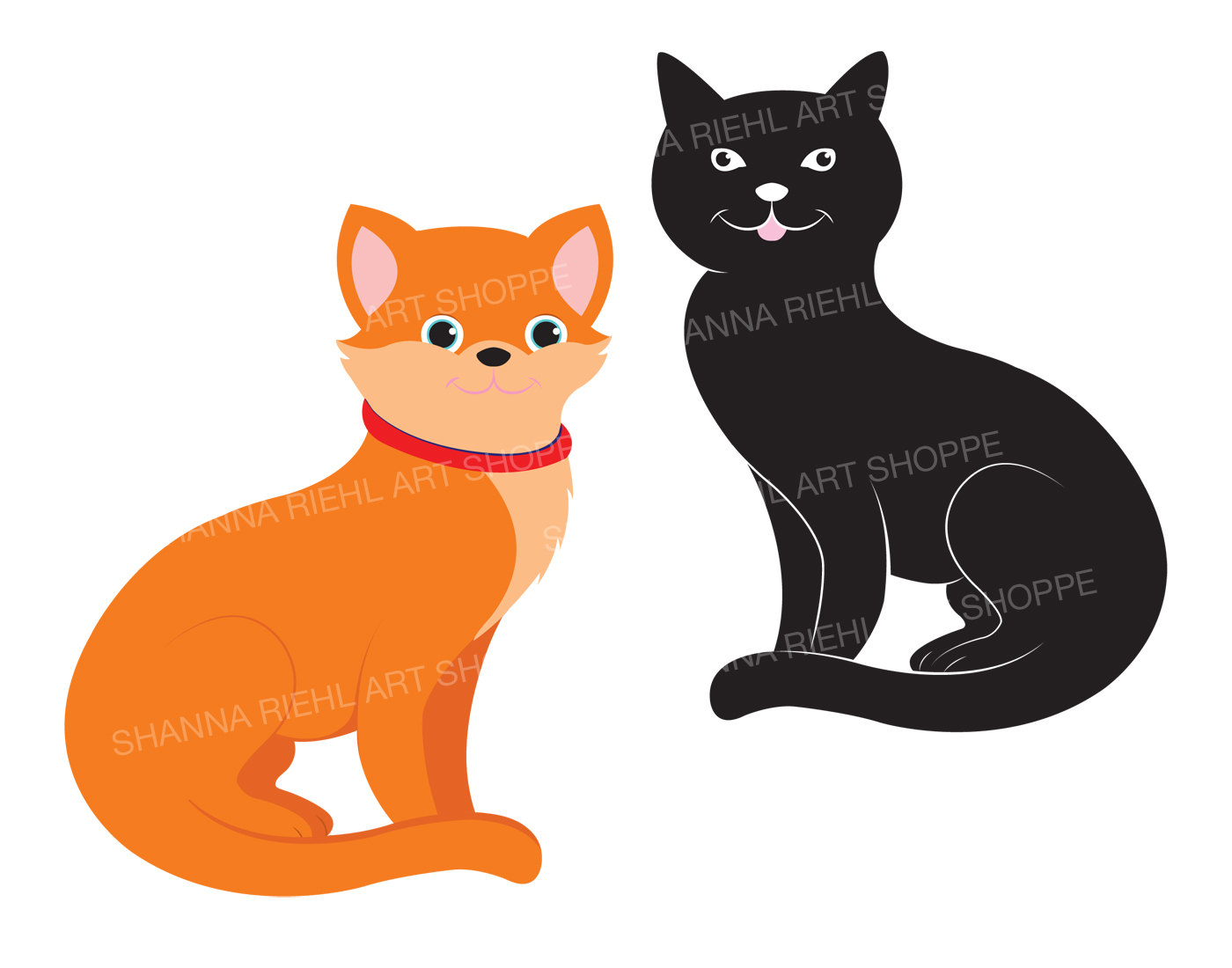 Black Cat clipart black animal Ears Black Cat Cats and