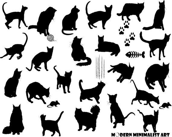 Black Cat clipart black object Cat included background! Cats 28