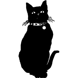 Black Cat clipart cat gif Pet feline of black no_contour