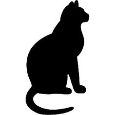 Black Cat clipart cat sitting Bit silhouettes A Google You