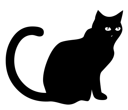 Black Cat clipart cat sitting Sitting black  2 cat