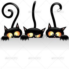 Black Cat clipart female cat Halloween cats of with Cats