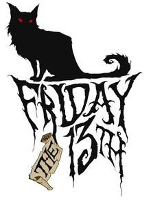 Black Cat clipart friday 13 Available friday a by /