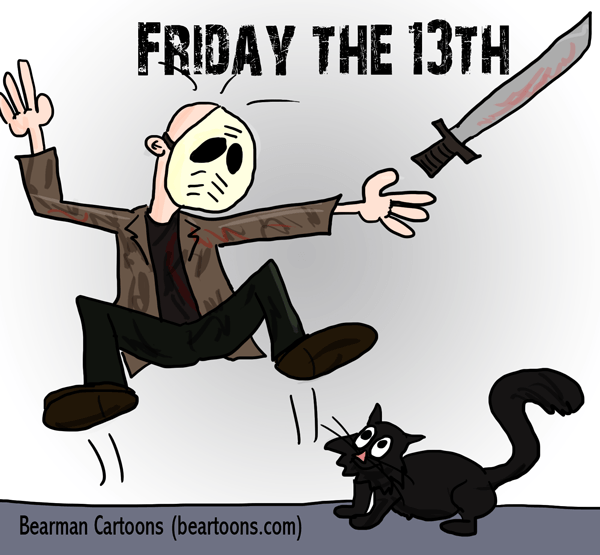 Black Cat clipart friday 13 Happy the 13th 13th Friday
