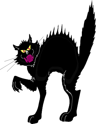 Black Cat clipart frightened Frightened Frightened Black Clipart Cat