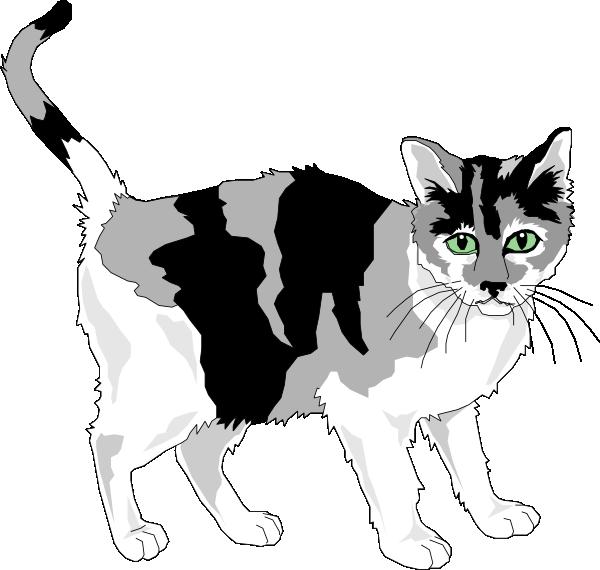 Black Cat clipart gray cat Image Black Gray Art clip