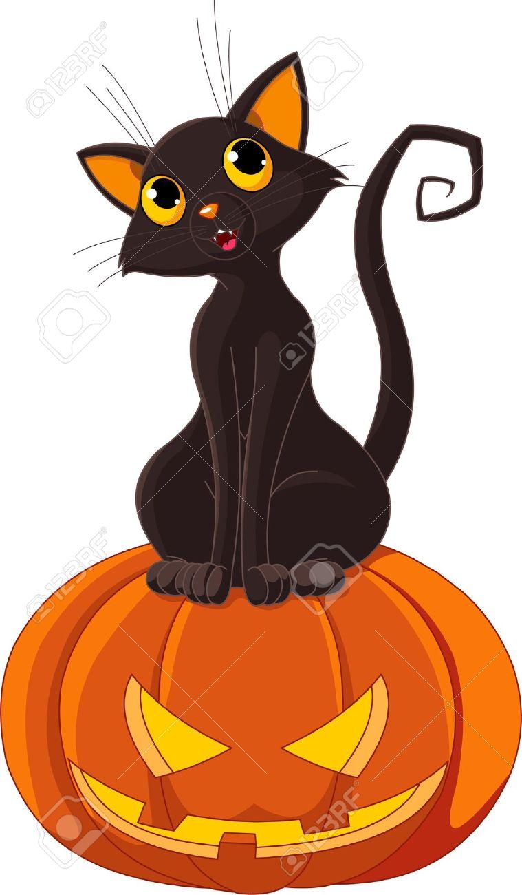 Black Cat clipart black kitten Pumpkin clipart cat with clipart