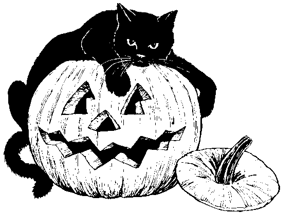 Black Cat clipart jack o lantern With with cat with clipart