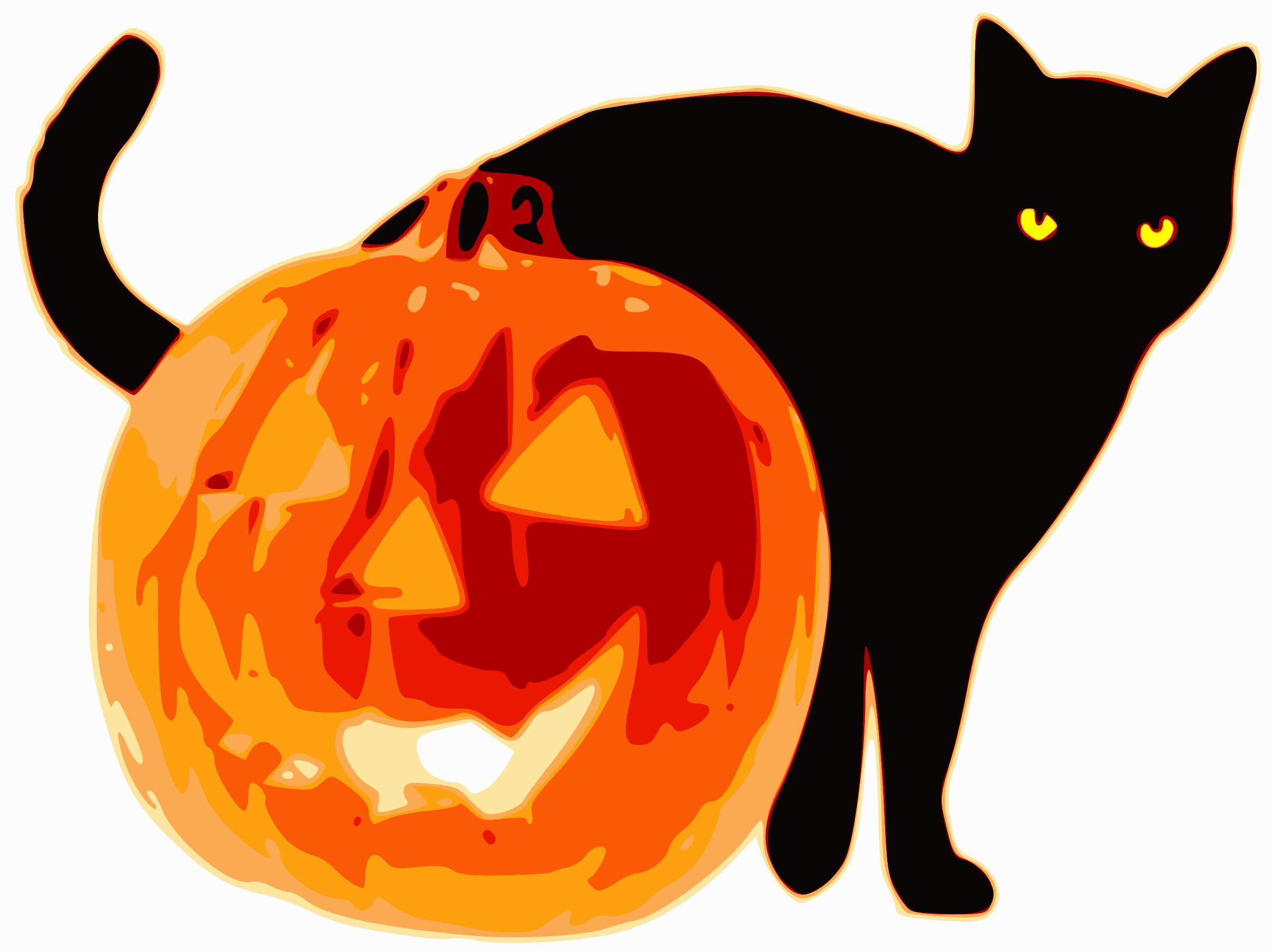 Black Cat clipart jack o lantern Jack O Lantern Cat and