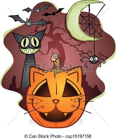 Black Cat clipart jack o lantern A Jack  of Black