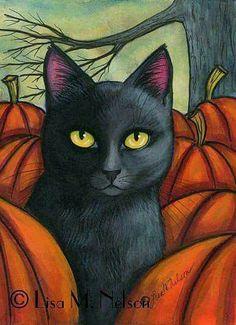 Black Cat clipart pumpkin patch Kittens  Find more Cat