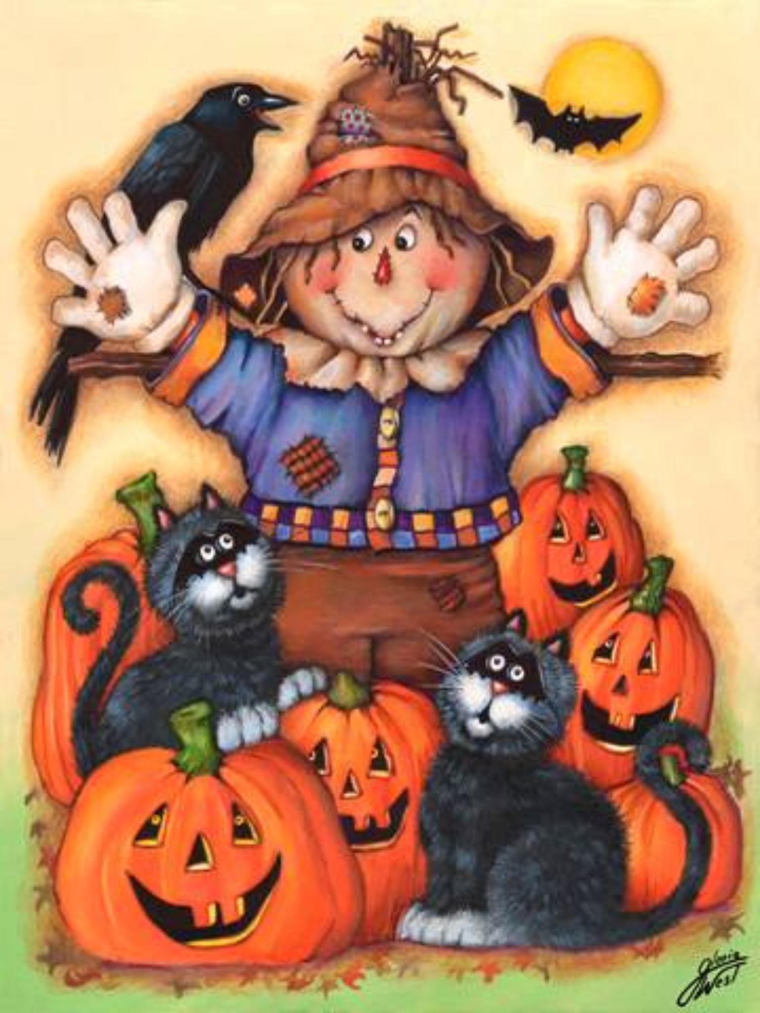 Black Cat clipart pumpkin patch Scarecrow's Pinterest catalog Halloween The