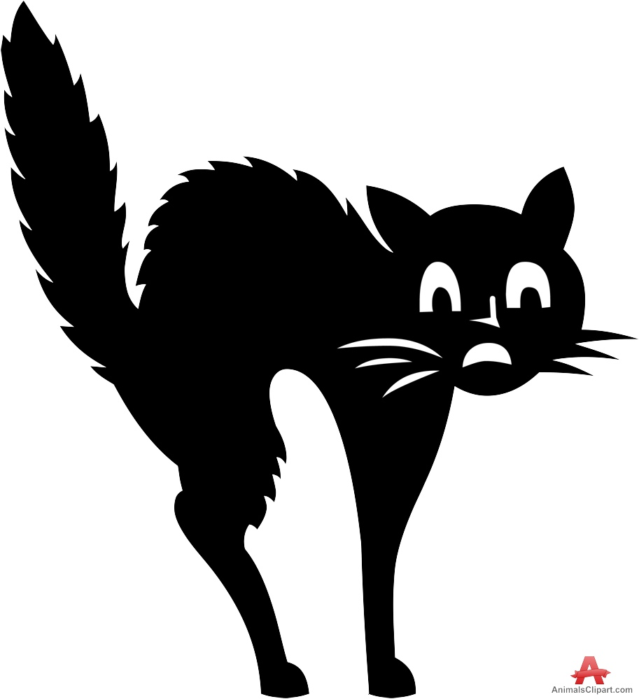 Black Cat clipart scared Cat Clipart Scare Jump Scare