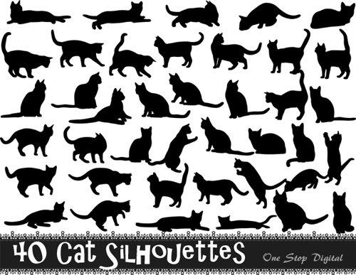 Black Cat clipart scrapbook Item? Black Download Clip Like