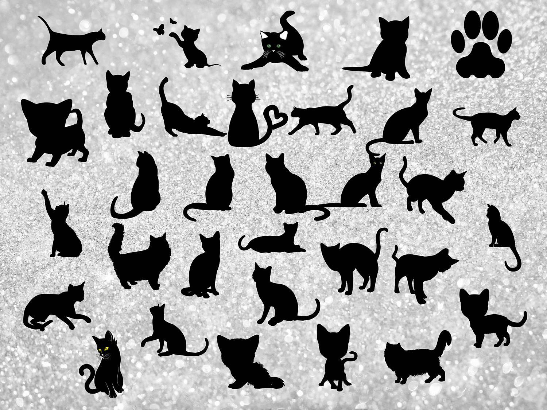Black Cat clipart scrapbook A clipart Kitten clipart file